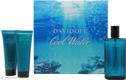 Davidoff Cool Water Set de Regalo 125ml EDT + 75ml Bálsamo Aftershave + 75ml Gel de Ducha