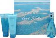 Davidoff Cool Water Set de Regalo 100ml EDT + 75ml Loción Corporal + 75ml Brisa de Ducha