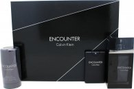 Calvin Klein Encounter Set de Regalo 100ml EDT + 20ml EDT + 75g Desodorante en Barra