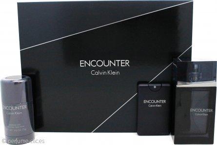 Calvin Klein Encounter Set de Regalo 100ml EDT + 20ml EDT + 75g Desodorante en Barra