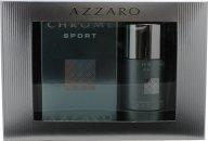 Azzaro Chrome Sport Set de Regalo 100ml EDT Vaporizador + 200ml Gel de Ducha