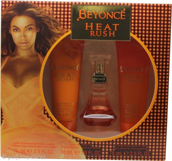 Beyonce Heat Rush Set de Regalo 30ml Eau de Toilette + 75ml Loción Corporal + 75ml Gel de Ducha