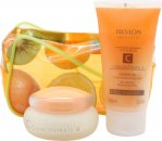 Revlon Absolutes Vitamin C Concentrate Set de Regalo 50ml Hidratante Día y Noche + 75ml Gel de Ducha + Bolsa Frutas