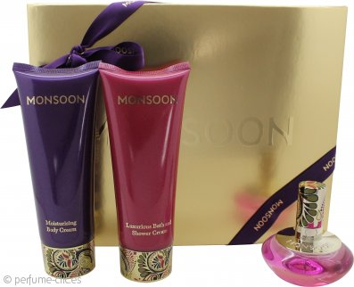 Monsoon Monsoon Set de Regalo 30ml EDT + 100ml Crema Corporal + 100ml Gel de Baño