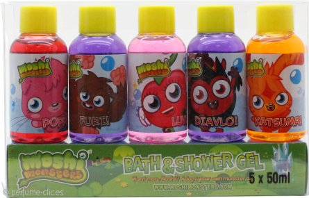 Moshi Monsters Set de Regalo 5 x 50ml Gel de Baño y Ducha