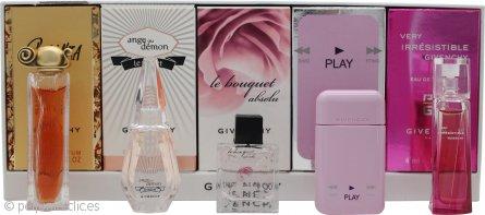 Givenchy Mini Set de Regalo 4ml EDT Very Irresistible + 5ml EDP Play + 5ml EDT Le Bouquet Absolu + 4ml EDP Ange Ou Demon Le Secret + 5ml EDP Organza
