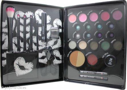 Jigsaw Perfect Colour Kit de Maquillaje Definitivo Set de Regalo 30 Piezas (Bronceadores + Coloretes + Sombras de Ojos + Lápices de Ojos + Bálsamo Labial + Brillo Labial + Rímel + Rizador Pestañas + Aplicadores)