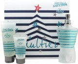 Jean Paul Gaultier Le Beau Male Set de Regalo 125ml EDT Vaporizador + 75ml Gel de Ducha+ 30ml Bálsamo Aftershave