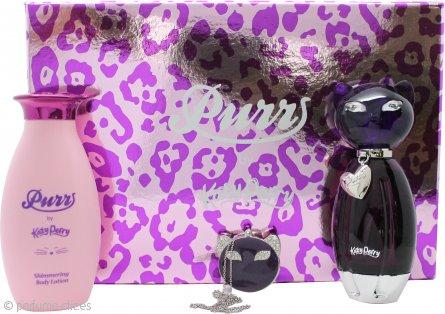 Katy Perry Purr Set de Regalo 50ml EDP + 120ml Loción Corporal + Perfume Sólido