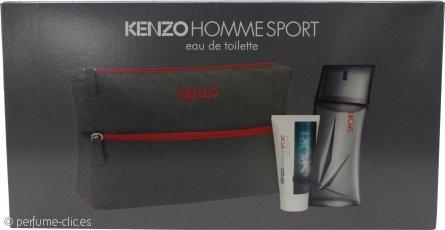 Kenzo Homme Sport Set de Regalo 100ml EDT + 50ml Bálsamo Aftershave + Bolsa de Baño