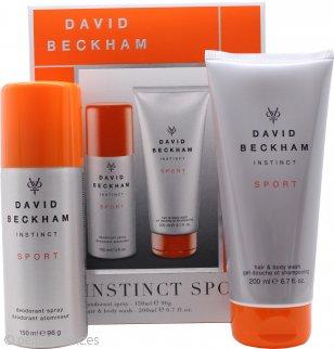 David Beckham Instinct Sport Set de Regalo 150ml Desodorante en Vaporizador Corporal + 200ml Set Gel Pelo y Cuerpo
