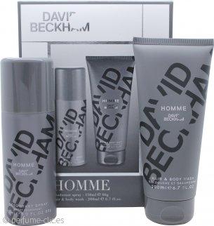 David Beckham David Beckham Homme Set de Regalo 200ml Gel de ducha + 150ml Desodorante en Vaporizador