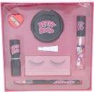 Betty Boop Set de Regalo Pestañas Postizas + Pegamento + Lápiz de Ojos + Sacapuntas + Espejo + Sellador Labial + Pintalabios