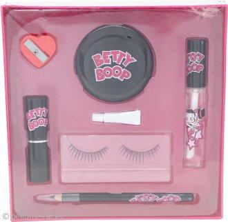 Betty Boop Betty Boop Set de Regalo Pestañas Postizas + Pegamento + Lápiz de Ojos + Sacapuntas + Espejo + Sellante Labios + Pintalabios