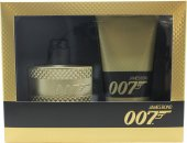 James Bond 007 Gold Set de Regalo 50ml EDT Vaporizador+ 150ml Gel de Ducha
