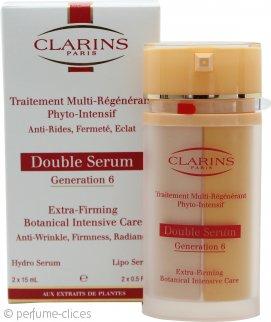 Clarins Double Serum Generación 6 Serum Botánico Cuidado Intensivo Extra-Reafirmante 2 x 15ml