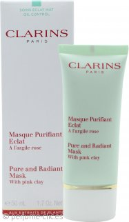 Clarins Pure and Radiant Máscara con Arcilla Rosa 50ml