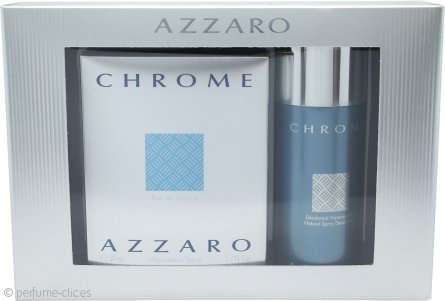 Azzaro Chrome Set de Regalo 50ml EDT + 150ml Desodorante en Vaporizador