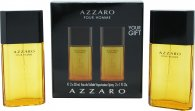 Azzaro Pour Homme Set de Regalo 100ml EDT Splash + 150ml Champú Cabello & Cuerpo