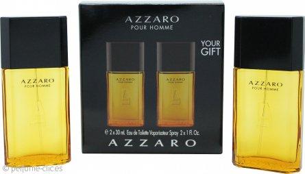 Azzaro Pour Homme Set de Regalo 100ml EDT + 50ml Champú Corporal y de Cabello + 30ml Bálsamo Aftershave + Bolsa