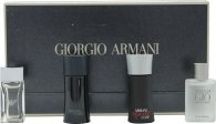 Giorgio Armani Miniatures Set de Regalo 5ml Attitude EDT + 5ml Acqua di Gio EDT + 5ml Armani Code EDT