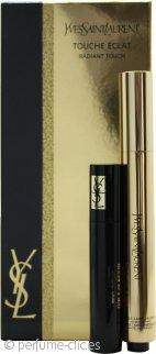 Yves Saint Laurent Touche Eclat Radiant Touch Set de Regalo 2.5ml Touche Eclat No. 2 Ivoire Lumiere + 2ml Rímel Volumen Effet Faux Cils Negro