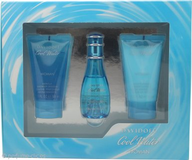 Davidoff Cool Water Set de Regalo 30ml EDT + 50ml Loción Corporal + 50ml Gel de Ducha