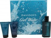 Davidoff Cool Water Set de Regalo 75ml EDT + 50ml Gel de Ducha + 50ml Bálsamo Aftershave