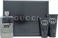 Gucci Guilty Pour Homme Set de Regalo Travel Collection 90ml EDT + 50ml Bálsamo Aftershave + 50ml All Over Champú