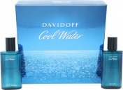 Davidoff Cool Water Set de Regalo 75ml EDT Vaporizador + 75ml Aftershave Loción