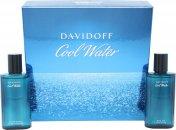 Davidoff Cool Water Set de Regalo 75ml EDT Vaporizador + 75ml Aftershave Loción