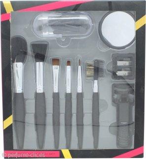 Active Cosmetics Prestige Luxe Set de Regalo de Cepillos 6 Cepillos + Espejo + Rizador de Pestañas + 5 Aplicadores + Sacapuntas