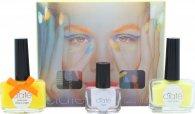 Ciaté Corrupted Neon Manicure Set de Regalo 13.5ml Esmalte de Uñas Naranja Neón + 10g Brillo Neón + 5ml Laca Brillo Oscuridad