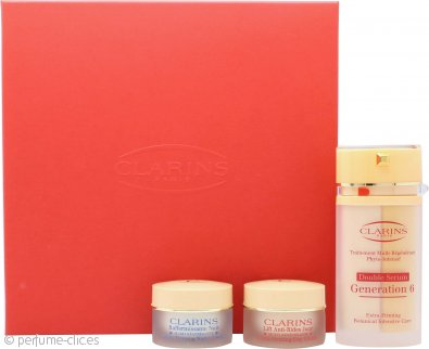 Clarins Multi-Regenerante Set de Regalo 30ml Generación Doble Serum 6 + 15ml Crema Lifting de Día Extra-Reafirmante + 15ml Crema de Noche Extra-Reafirmante Rejuvenecedora