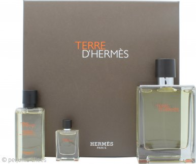 Hermes Terre D'Hermes Set de Regalo 100ml EDT + 40ml Gel de Ducha + 5ml EDT