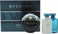 Bvlgari Aqva Pour Homme Set de Regalo 50ml EDT + 40ml Bálsamo Aftershave + 40ml Ger de Ducha