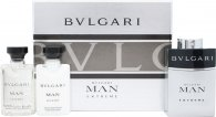 Bvlgari Man Extreme Set de Regalo 3 x 15ml EDT Vaporizador Recargable
