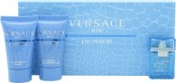 Versace Man Eau Fraiche Set de Regalo 5ml EDT + 25ml Gel de ducha + 25ml Bálsamo Aftershave