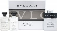 Bvlgari Man Extreme Set de Regalo 60ml EDT Vaporizador + 40ml Bálsamo Aftershave + 40ml Champú y Gel de ducha