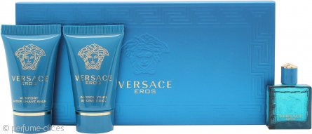 Versace Eros Set de Regalo 5ml EDT + 25ml Gel de Ducha + 25ml Bálsamo Aftershave