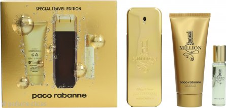 Paco Rabanne 1 Million Set de Regalo 100ml EDT Vaporizador + 100ml Gel de Ducha + 15ml EDT Vaporizador