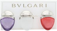 Bvlgari Omnia Collection Jewel Charm Coffret Set de Regalo 15ml EDT Omnia Crystalline + 15ml EDT Omnia Coral + 15ml EDT Omnia Amethyste