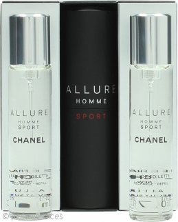 Chanel Allure Homme Sport Set de Regalo 20ml EDT Vaporizador + 2 x Recambios