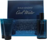 Davidoff Cool Water Set de Regalo 75ml Aftershave + 50ml Gel de Ducha + 50ml Bálsamo Aftershave
