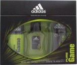 Adidas Pure Game Set de Regalo 50ml EDT + 150 ml Vaporizador Corporal + 250ml Gel de Ducha