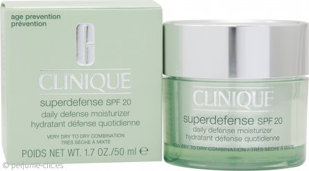 Clinique Superdefense SPF20 Hidratante Defensa Diaria 50ml – Piel Muy Seca a Seca-Mixta