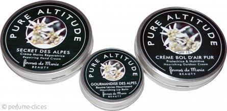 Fermes de Marie Pure Altitude Set de Regalo 60ml Crema Manos + 15g Bálsamo Labial + 60ml Crema Nutritiva Exterior