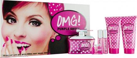Jigsaw OMG! Purple Shock Set de Regalo 100ml EDT + 150ml Loción Corporal + 150ml Gel Corporal + 2 x 15ml Vaporizador de Bolso + 7.5ml EDT Mini