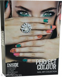 Jigsaw Perfect Colour Nail Art Collection Set de Regalo 23 Piezas Set Manicura + Esmaltes de Uñas + Gemas de Uñas + Adhesivos
