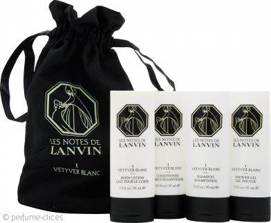 Lanvin Les Notes de Lanvin I Vetyver Blanc Set de Regalo 45ml Loción Corporal + 45ml Acondicionador + 45ml Champú + 45ml Gel de Ducha + Bolsa